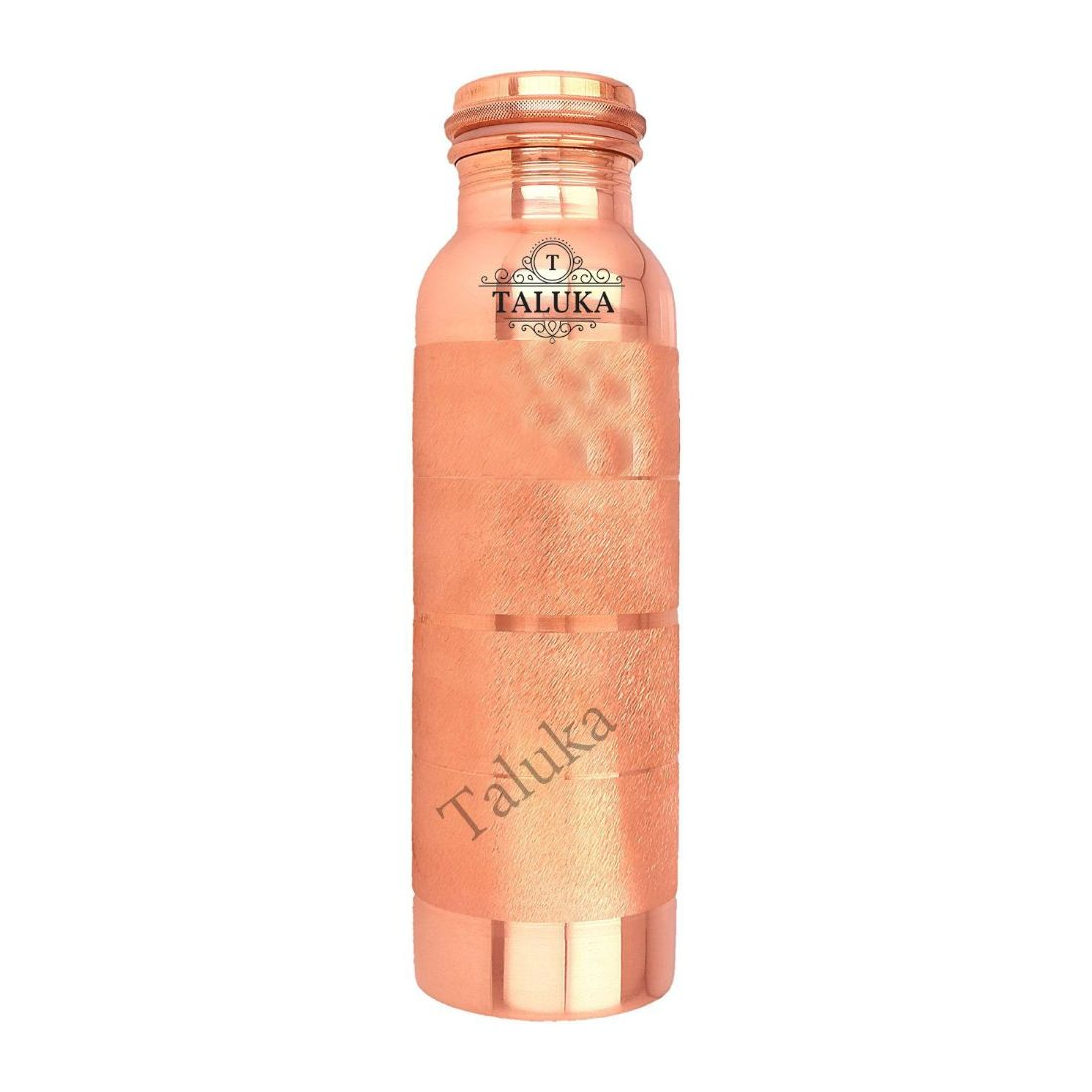Handmade Pure Copper Joint Free Leak Proof Water Bottle 1000 ML Set Of 9 Drink Ware Storage Bottle For Good Health