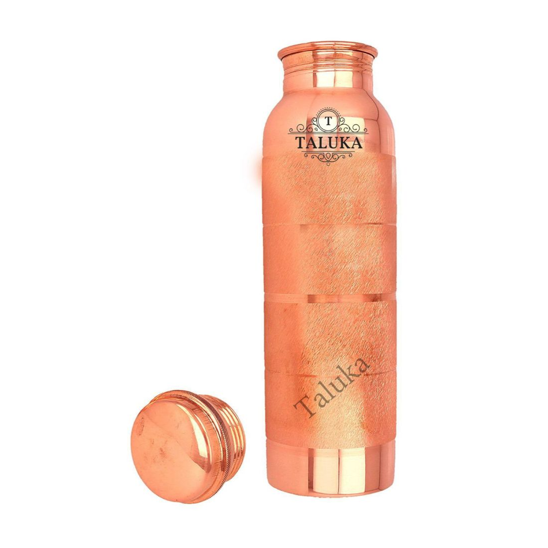 Handmade Pure Copper Joint Free Leak Proof Water Bottle 1000 ML Set Of 12 Drink Ware Storage Bottle For Good Health