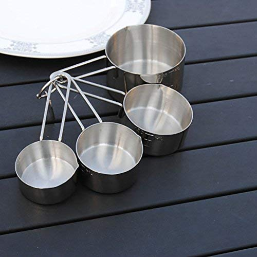 Stainless Steel Measuring Cup, Silver, Set of 4