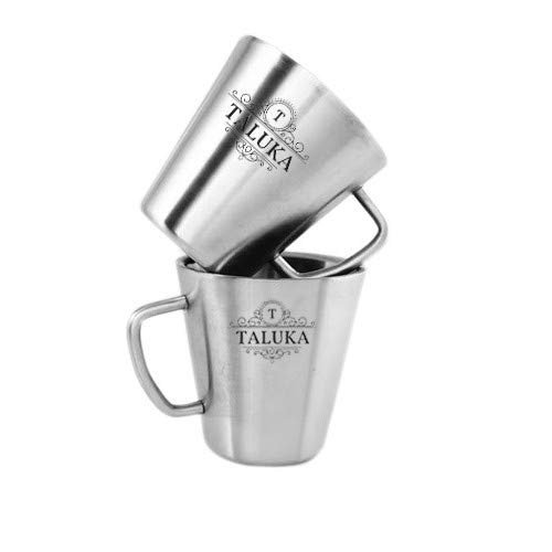 Stainless Steel Coffee Mug Set, 220 Ml, Silver, 2 Piece