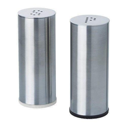 Modern Kitchen Stainless Steel Salt and Pepper Shakers - 3.0 inch Pack of 2
