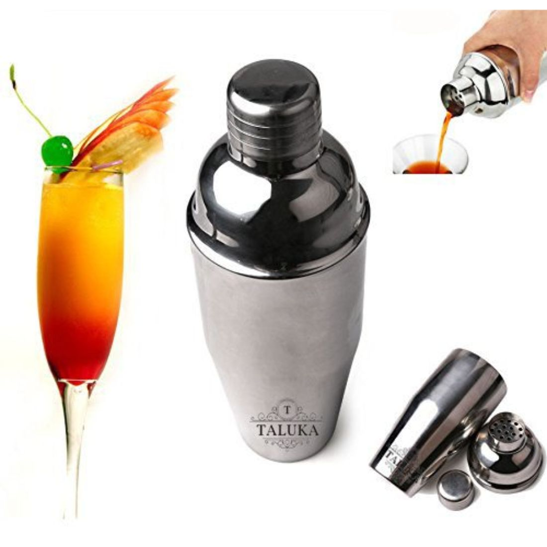 Stainless Steel Mocktail Juice Mixing & Serving Wine Cocktail Wine Shaker