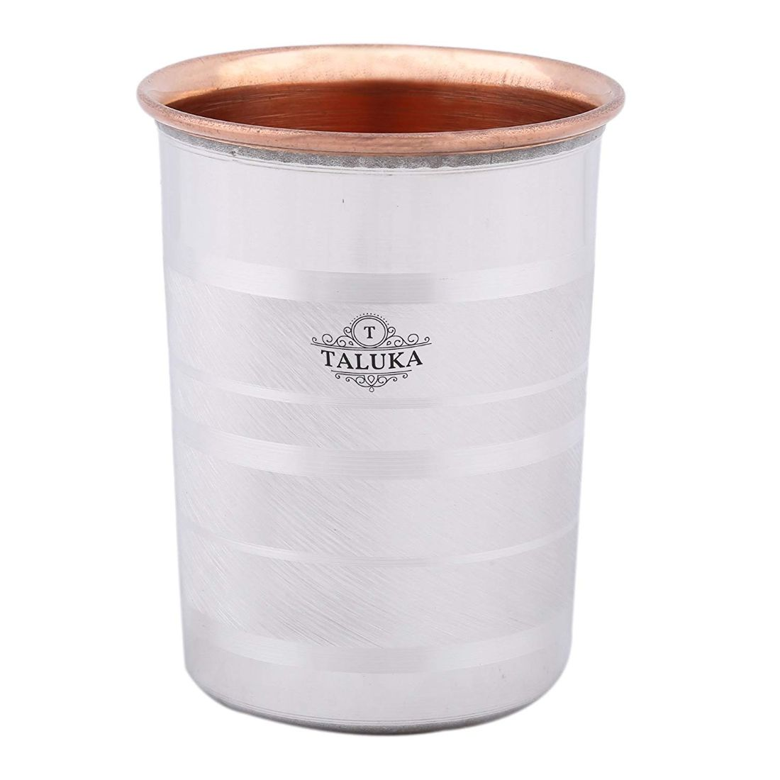 Stainless Steel Copper Jug 2000 ML For Drinking Water With 1 Steel Bottle and 1 Steel Copper Glass 350 ML Water Storage