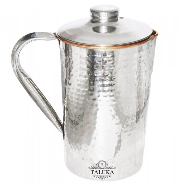 Stainless Steel Copper Hammered Jug  Water Pitcher
