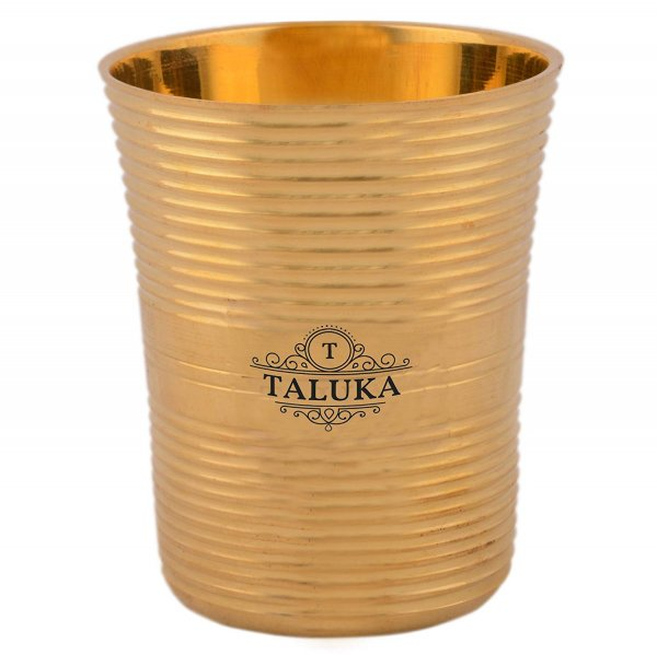 Brass Water Glass Tumbler Cup 300 ML For Drinking Serving Purpose Home Hotel Use