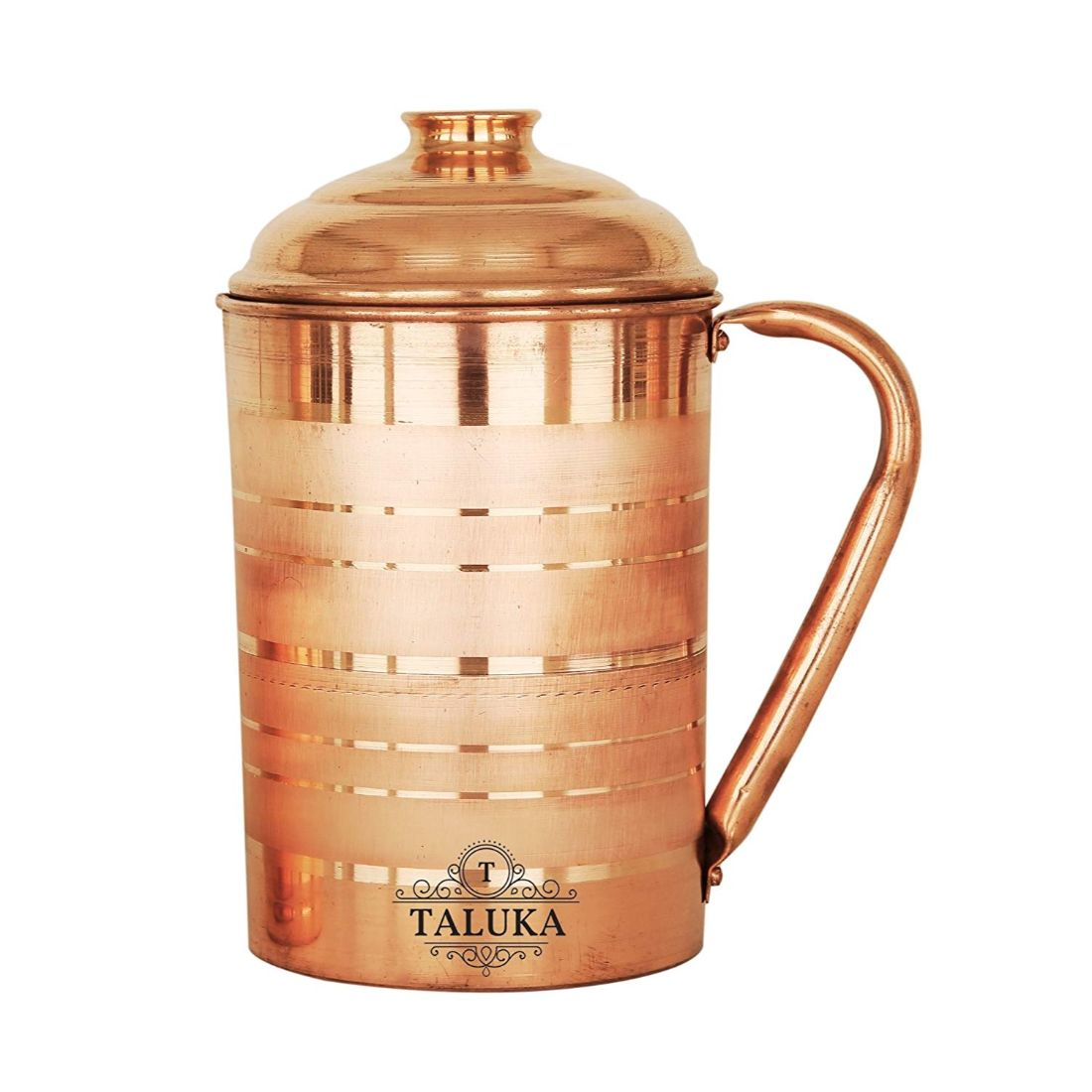 Handmade Copper Water Jug Pitcher 1700 ML With 1 PC Copper Glass Cup Water Storage Serving Drinking Water 300 ML