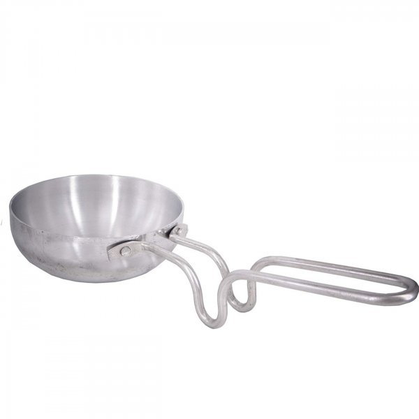 "Aluminium Silver Tadka Pan for Cooking Purpose Hotel Home Restaurant 4.8"" inch Approx"