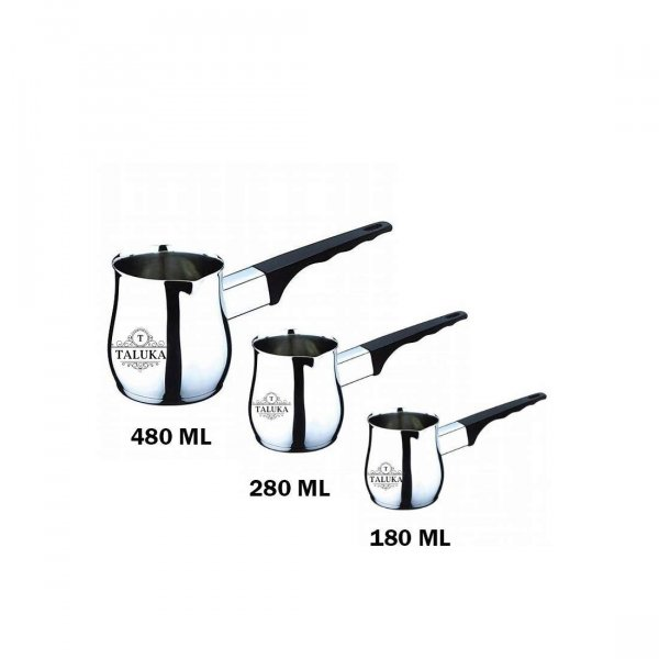 Stainless Steel Coffee Warmer Set of 3, 180 ML || 280 ML || 480 ML Use Hotel Home Restaurant