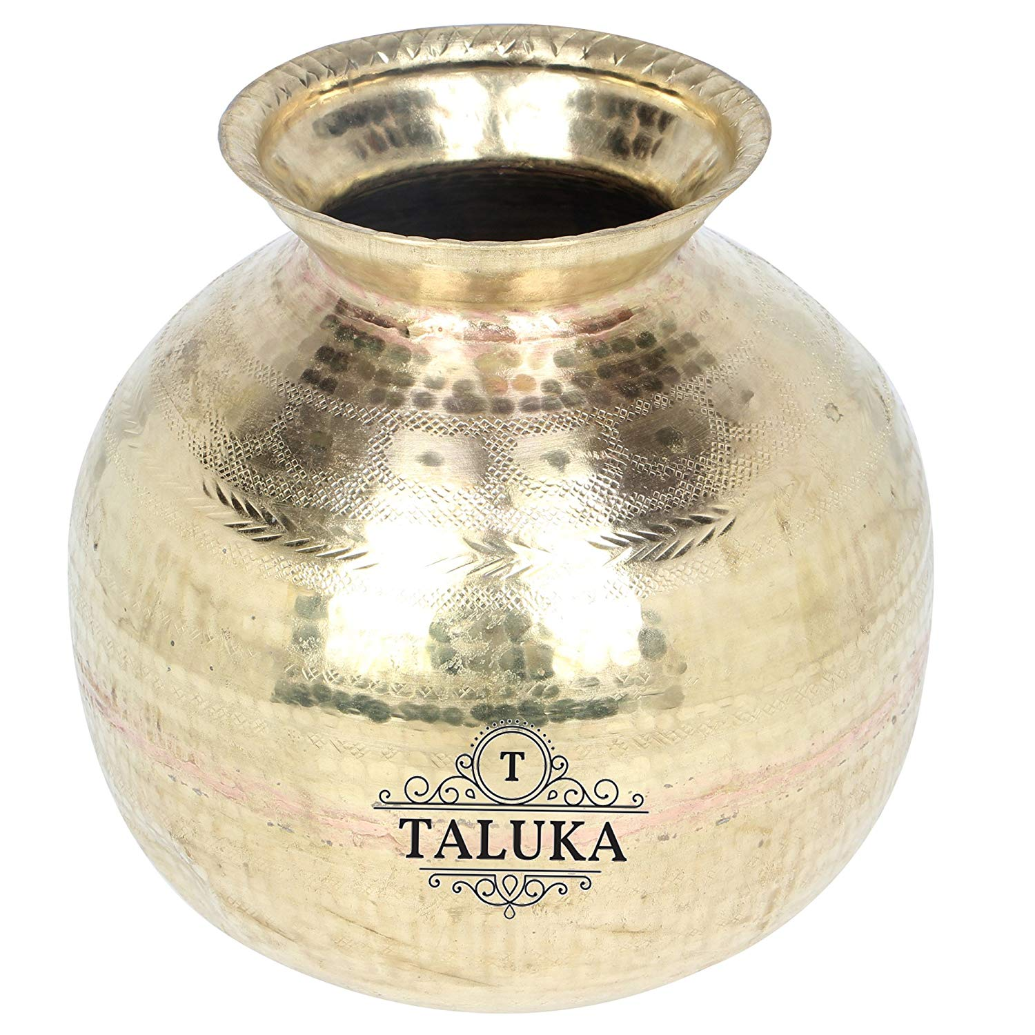 Brass Hammered Water Pot Matki Water Dispenser Storage Matka Water Container