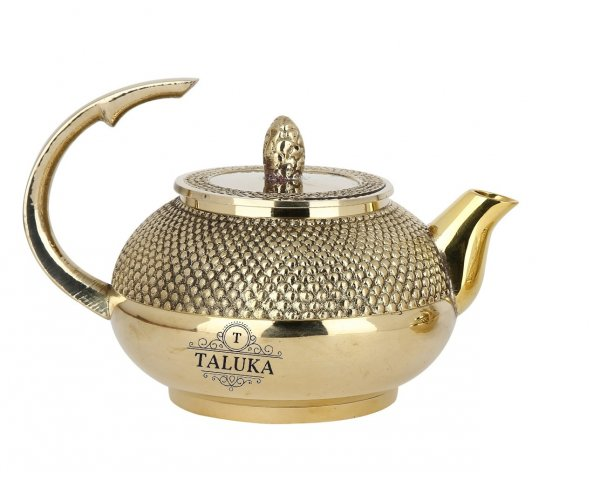 Brass Royal Diamond Design Tea Pot Coffee Tea Serving Pot 800 ML Drinking Serving Purpose