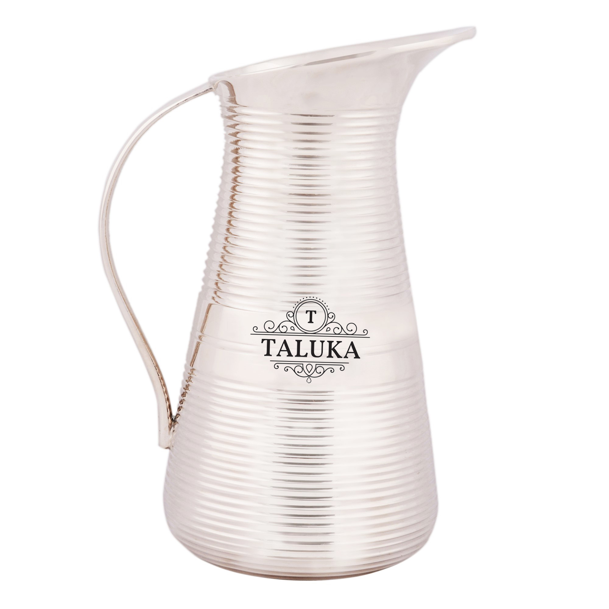 Brass Silver Plated Jug Water Pitcher For Storage For Home Hotel Gifting Purpose 1500 ML