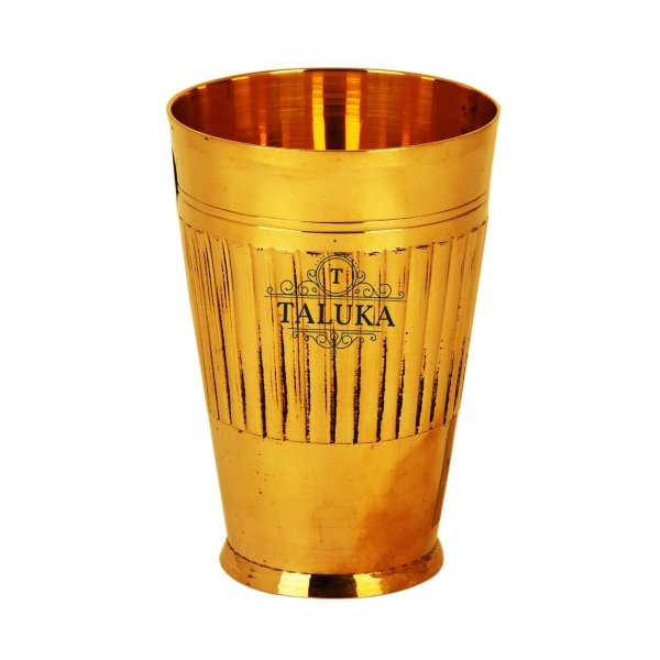 Brass Water Glass Tumbler Cup 300 ML For Drinking Serving Purpose