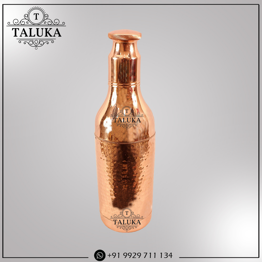 Copper Hammered Drinking Water Bottle 1700 ML For Health Benefits