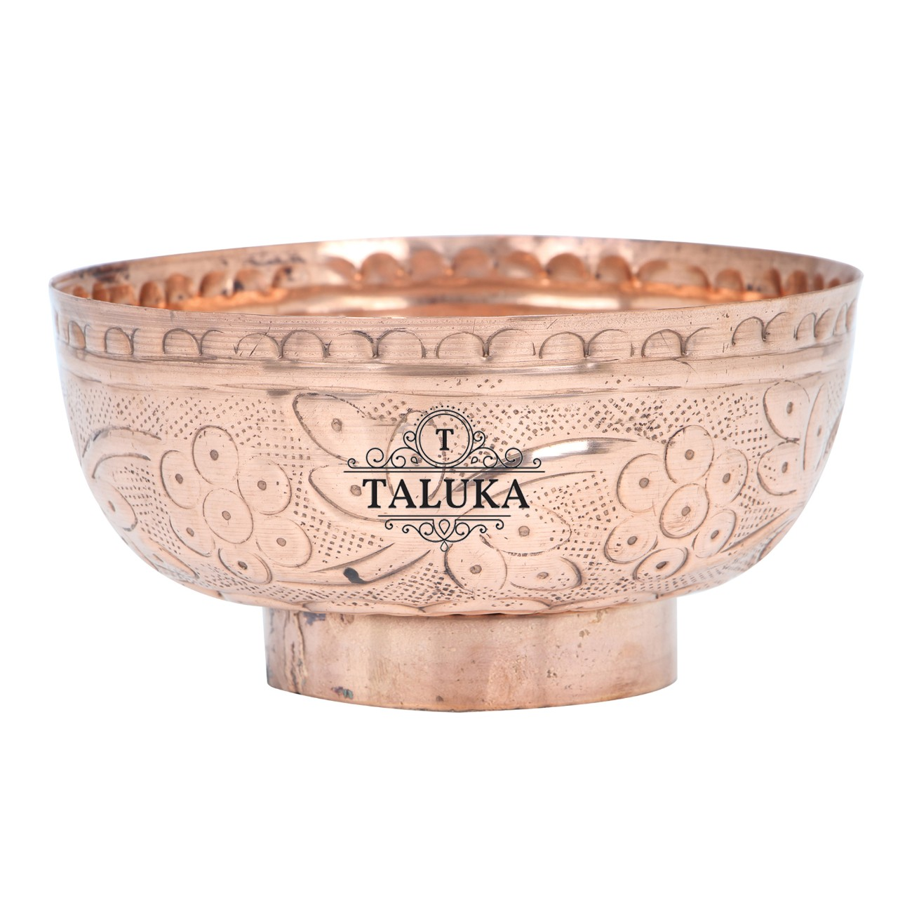 Copper Embossed Design Serving Desert Bowl For Tableware Restaurant Home Hotel