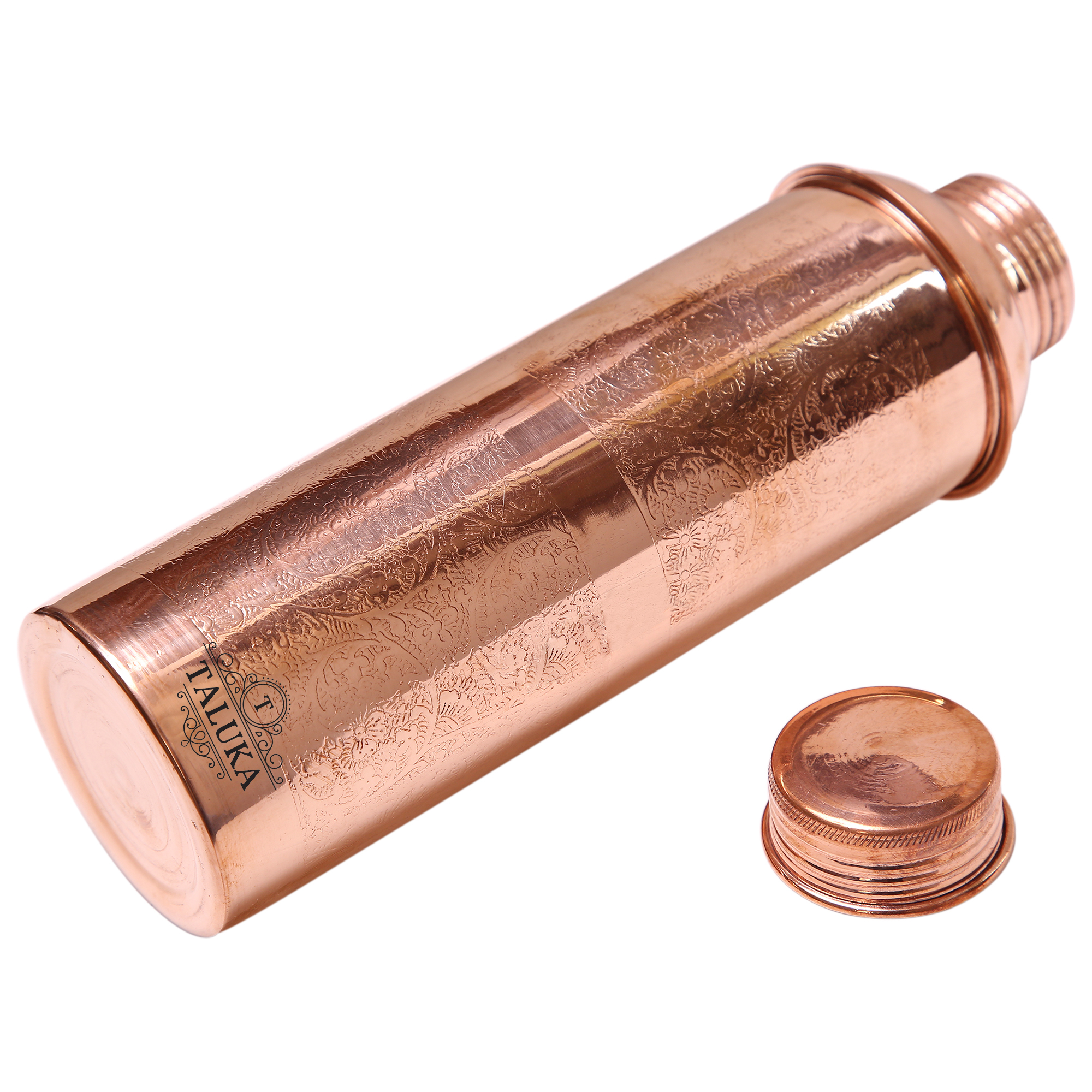Copper Etching Embossed Design Water Bottle