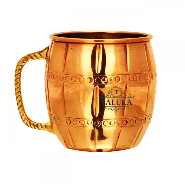 Copper Hammered 530 ML Moscow Mule Mug With Brass Handle For Bar Ware Restaurant Home