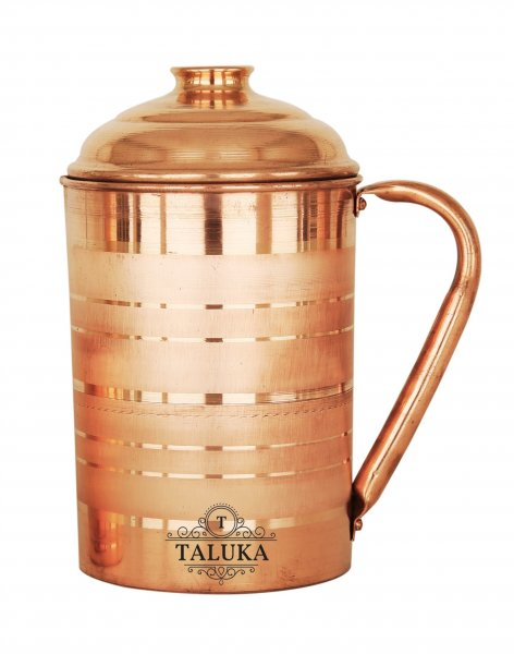 Copper Jug Luxury Design Pitcher Ayurveda Health Benefits Capacity: 1700 ML