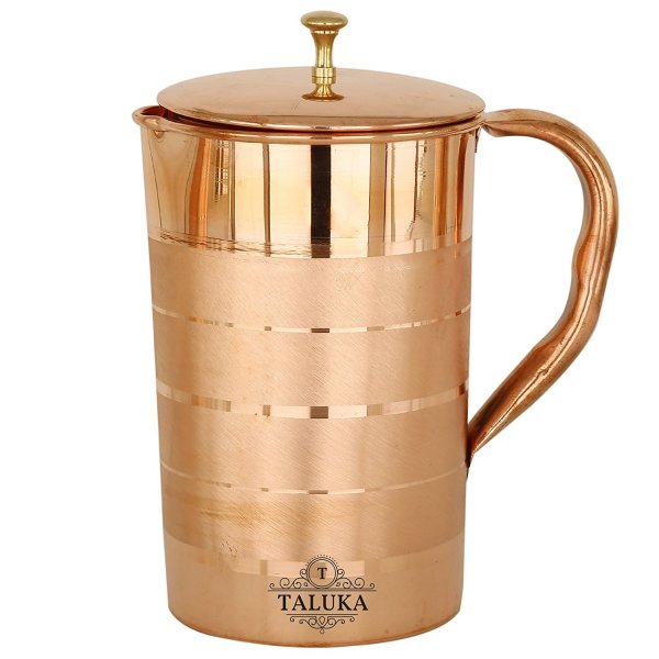 Copper Jug Luxury Design Water Pitcher With Brass Knob Lid
