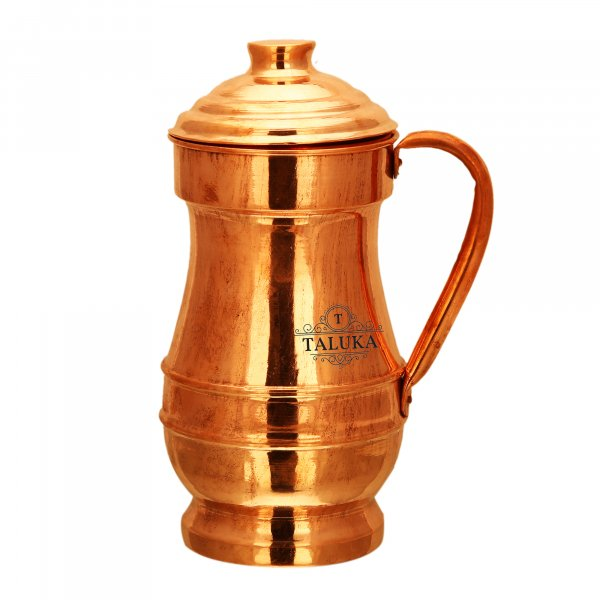 Copper Jug Royal Design Water Pitcher Drinking  Capacity: 1500 ML