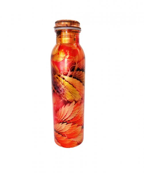 Copper Leak Proof Digital Printed Drinking Water Bottle 1000 ML