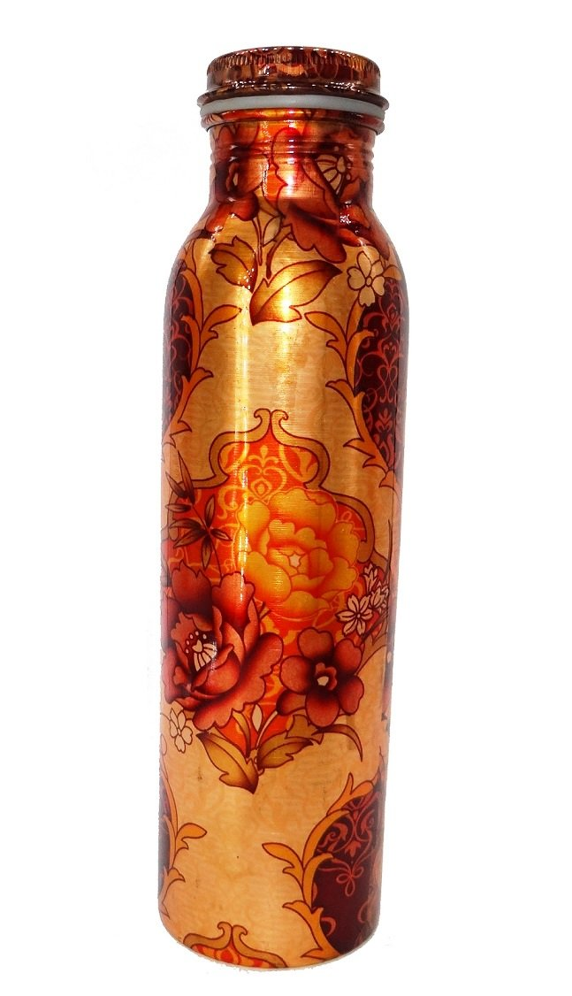 Copper Leak Proof Digital Printed Joint Free Drinking Water Bottle 1000 ML