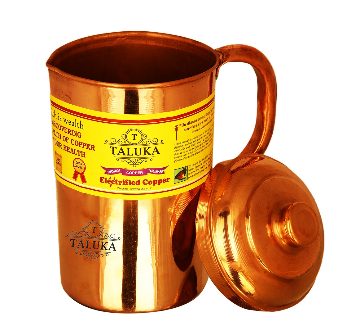 Copper Palin Jug Water Pitcher Drinking Health Benefits Capacity: 1500 ML