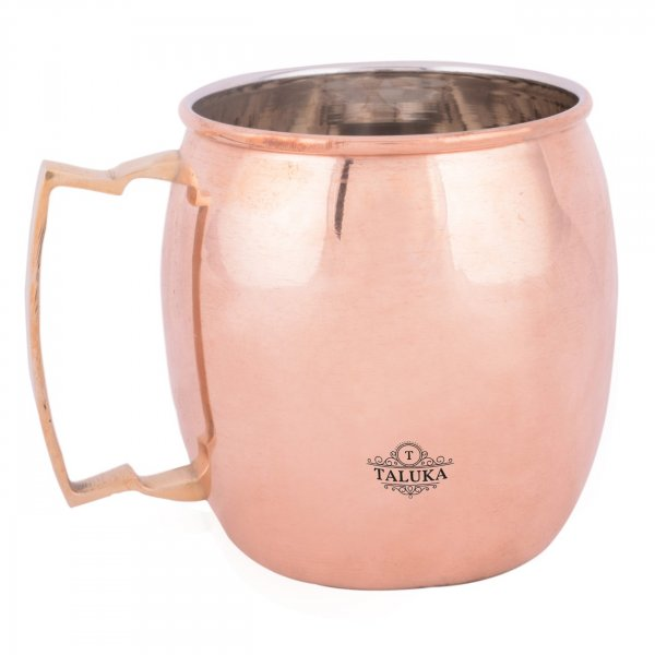Copper Plain Nickel Plated Wine Beer Mug For Bar Ware Restaurant Home Gift Purpose