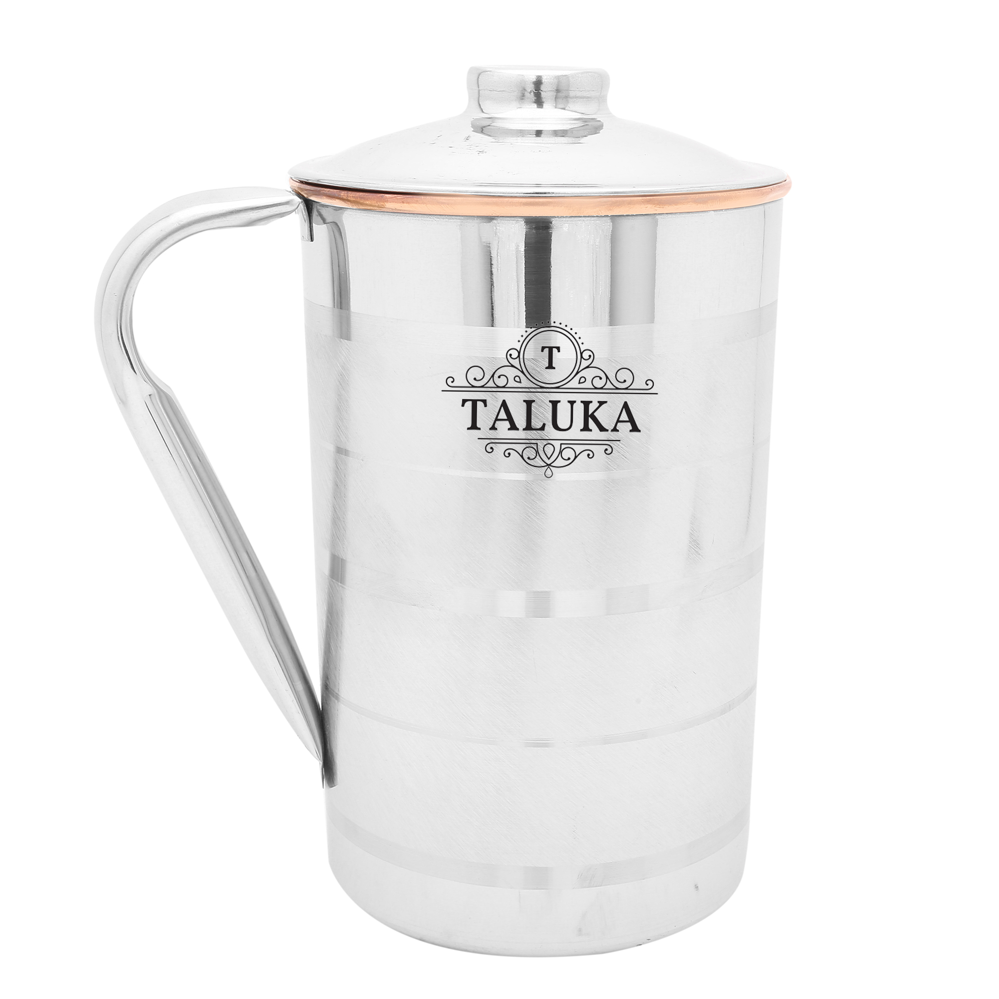 Copper Steel Jug Water Pitcher For Drinking Storage Capacity: 1500 ML