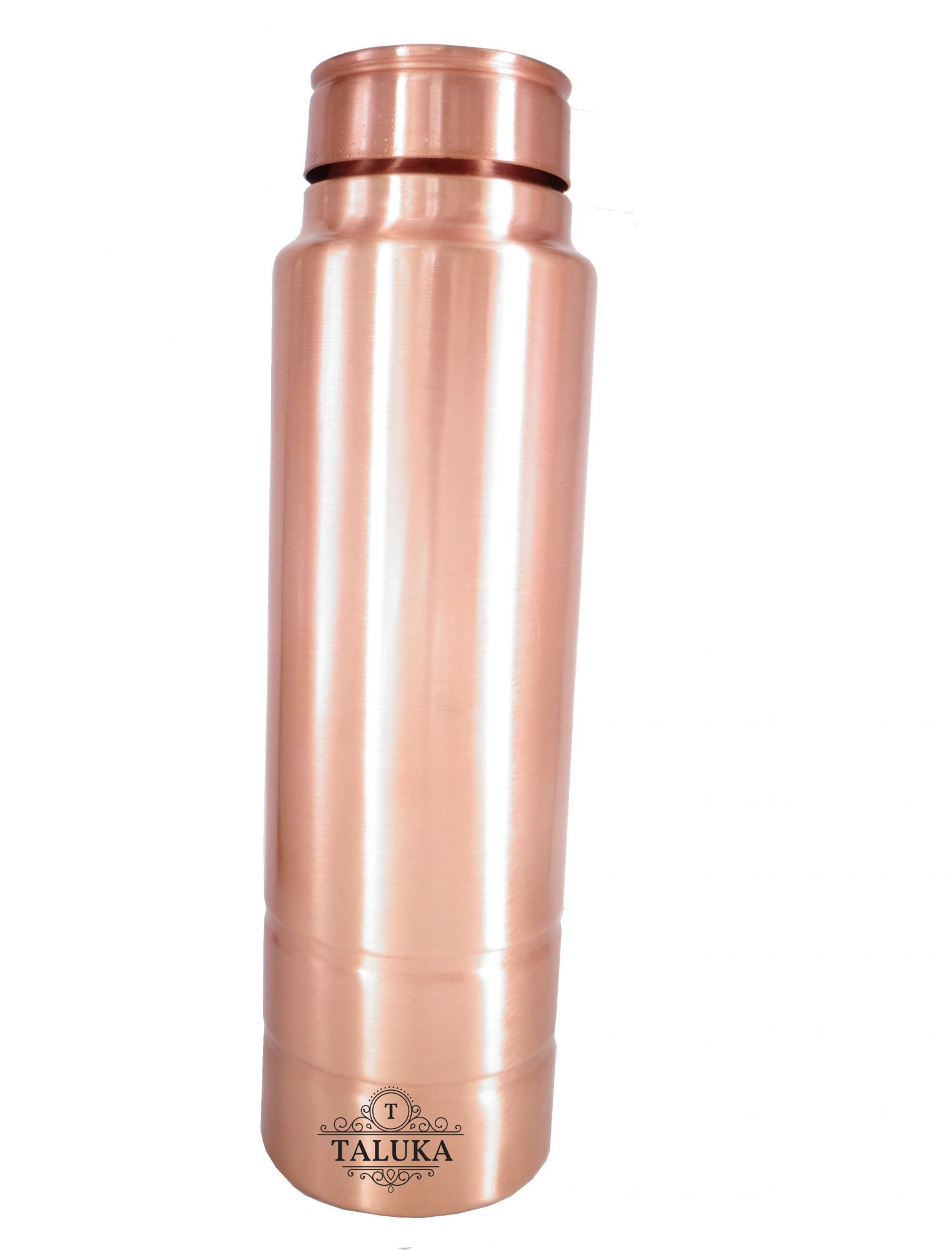 Copper Straight Designer Leak Proof Joint Free Drinking Water Bottle