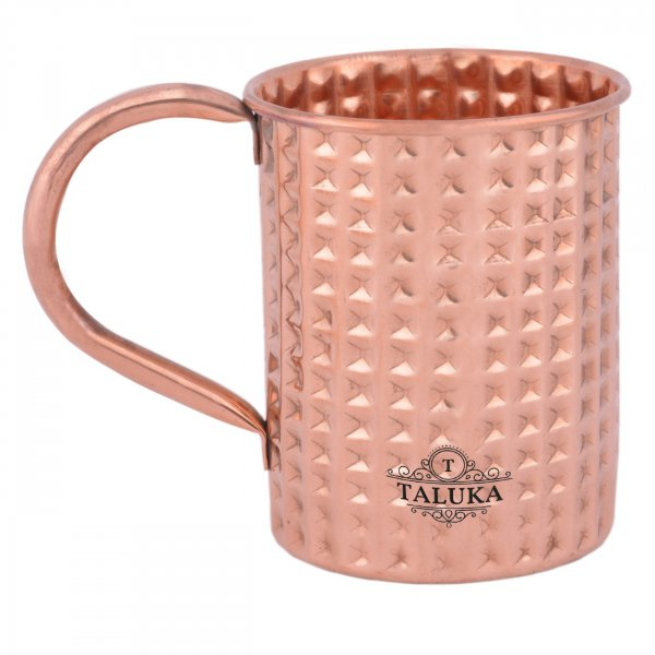 Copper Straight Hammered Moscow Mule Wine Beer Mug For Bar Ware