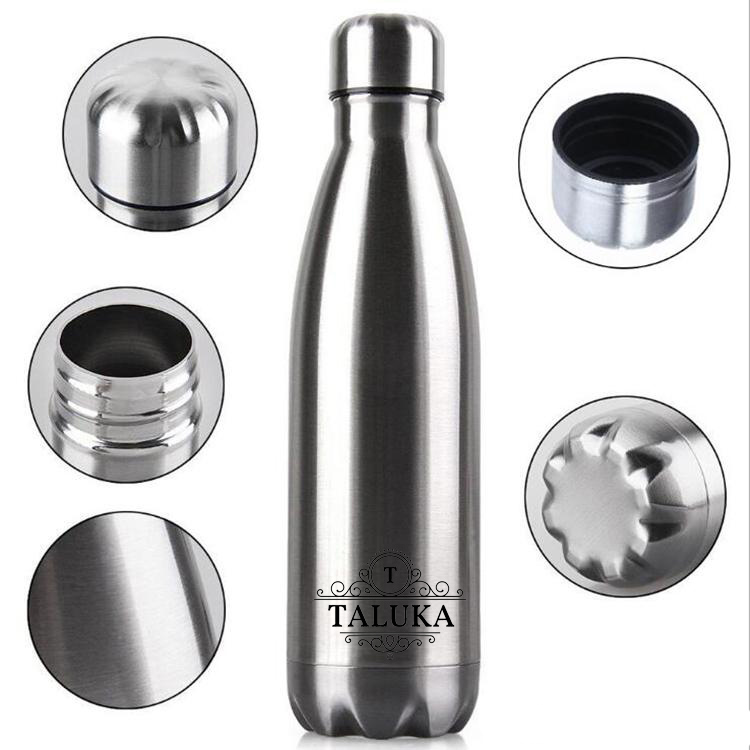 Thermosteel Duo Deluxe-750 ML Bottle Style Vacuum Flask, Silver