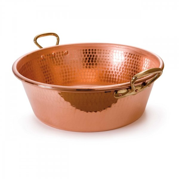 Handmade Copper 15000 ML Jam Pan with Bronze Handles For Cookware