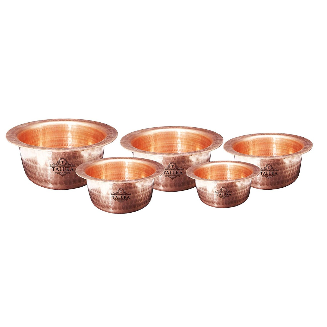 Handmade Copper Hammered Tope Topia / Patila Bhaguna Cooking Set