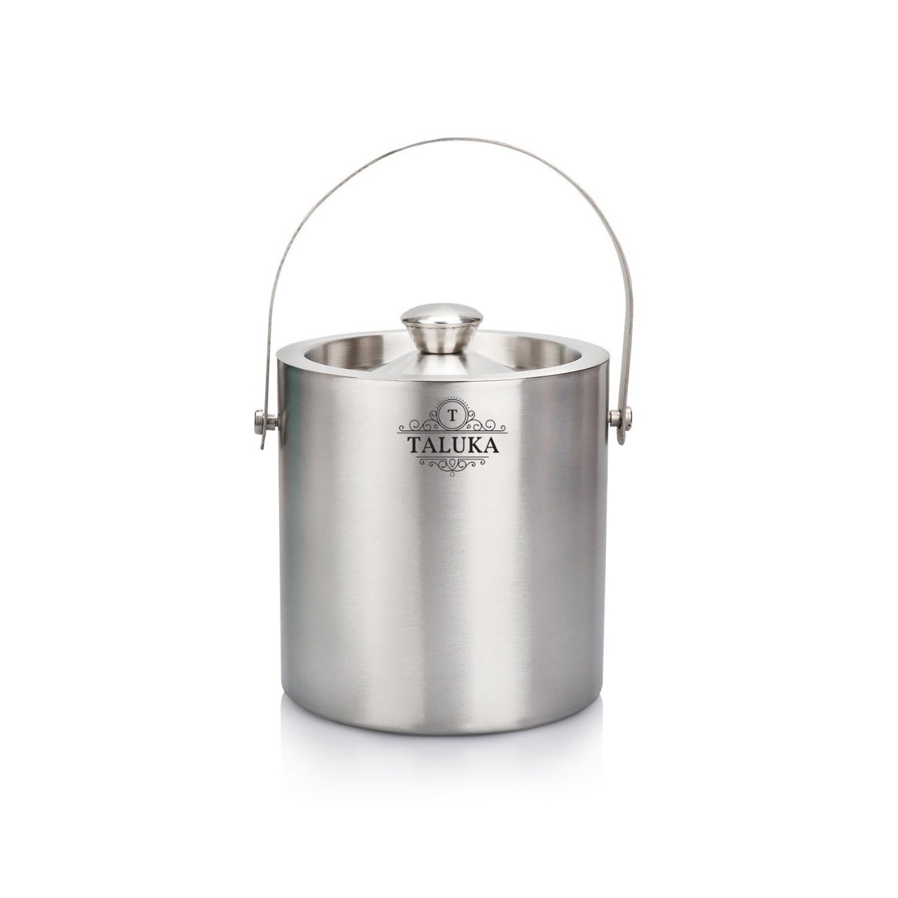 Stainless Steel Double Wall Ice Bucket 1500 ML With Ice Tong Bar Ware