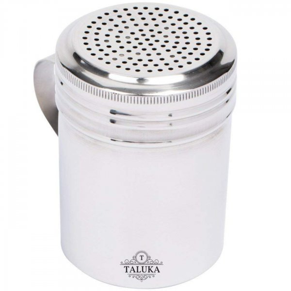 Stainless Steel Dredge Salt Sugar Coffee Cocoa Shaker with Fine-Mesh Lid