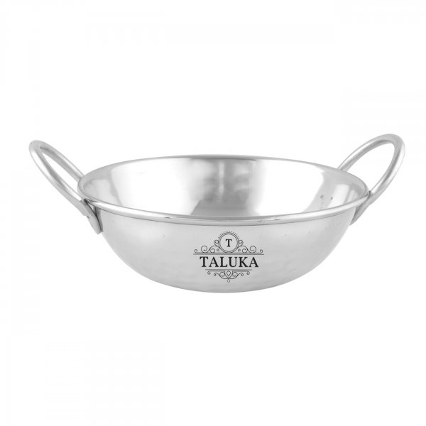 Stainless Steel Hammered Kadai Serving Kadhai Wok 500 ML For Kitchen Cookware Tableware