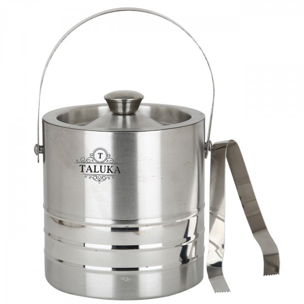 Stainless Steel Ice Bucket 1500 ML With Ice Tong Bar Ware Restaurant Home Gift Purpose