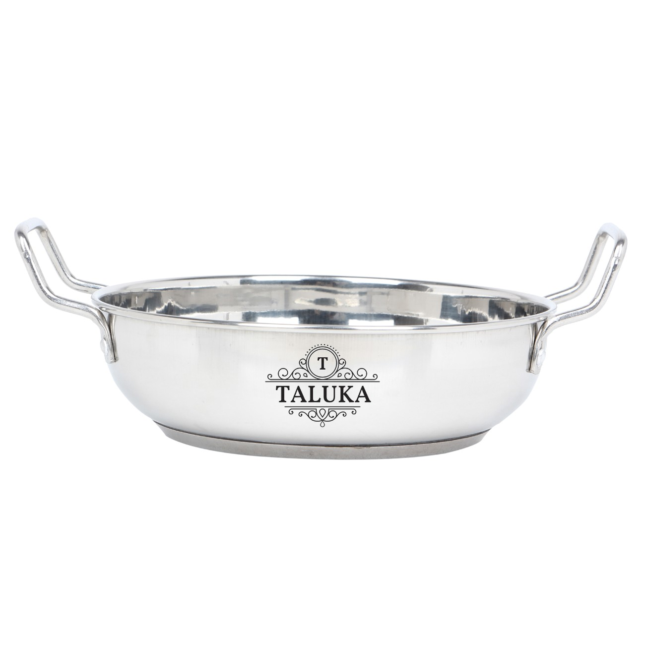 Stainless Steel Induction Friendly Kadai Serving Kadhai Wok For Kitchen