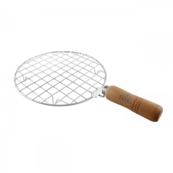 Stainless Steel Made Round Papad Jali Papad Maker Wooden Handle