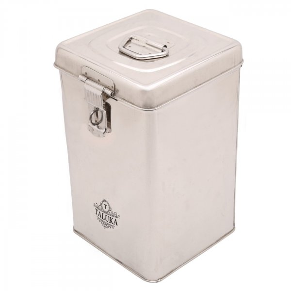 Stainless Steel Made Square Canister Kitchen Storage 3000 Ml For Home