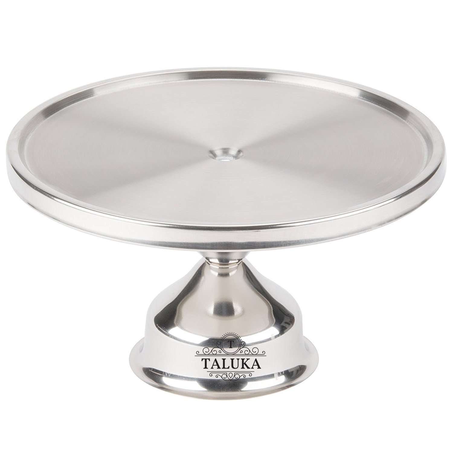 Stainless Steel Non-Revolving Round Desert Stand, Cake Stand Pizza Stand