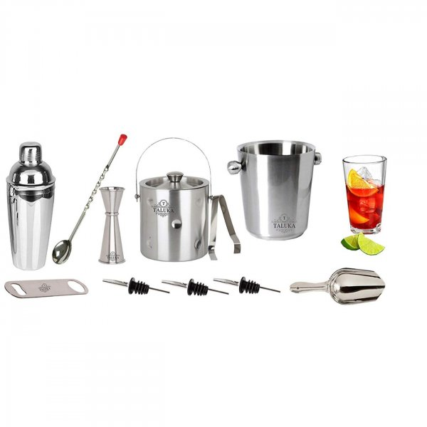 Stainless Steel Wine and Cocktail Bar Set 11 Piece Combination Bar Tools Set
