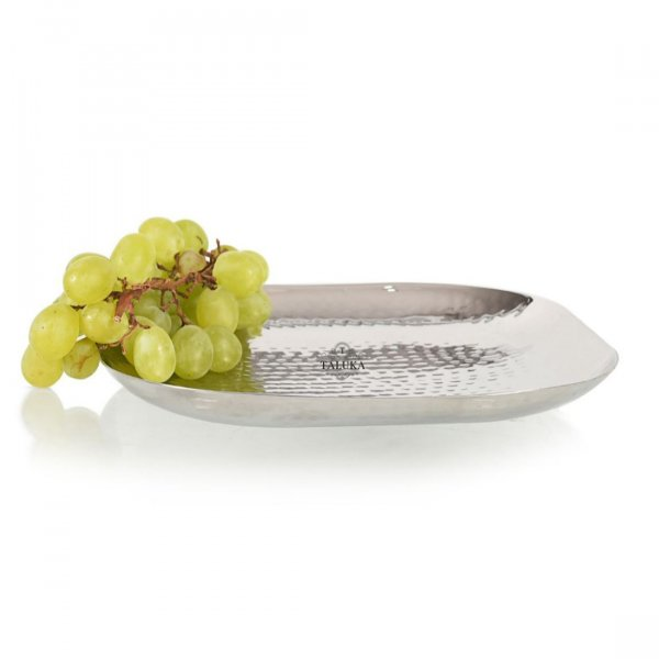 Premium Stainless Steel Hammered Royal Finishing Tray Best for Home | Kitchen | Hotel | Breakfast | Dry Fruits | Fruits